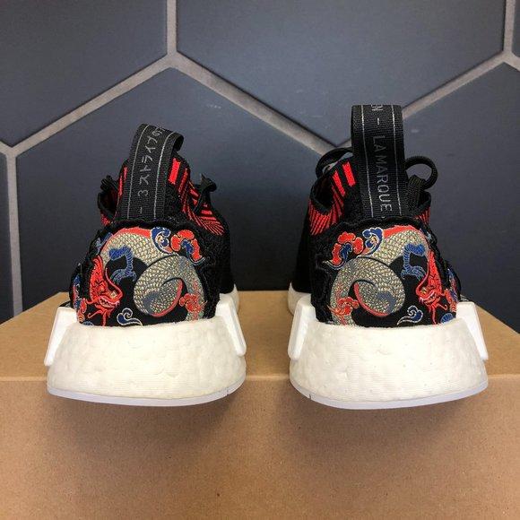Adidas NMD R1 Primeknit Dragon Patch Size 9